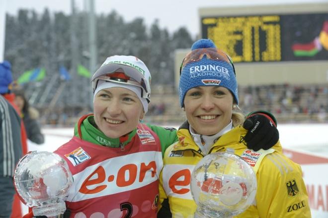 Дарья Домрачева и Магдалена Нойнер. Ханты-Мансийск, 2012
