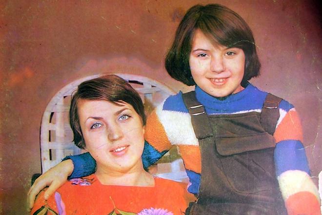 Жанна Рождественская с дочкой