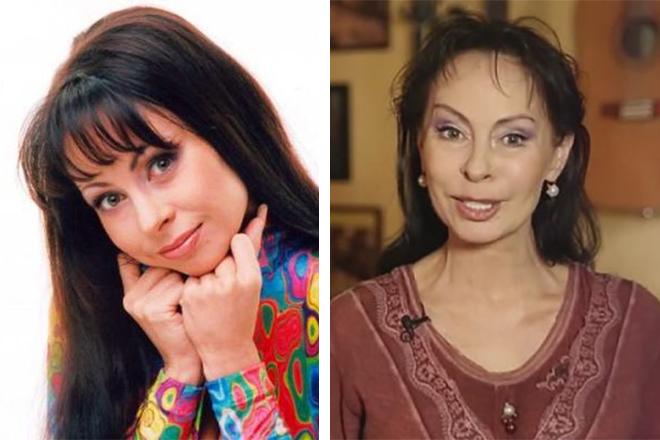 Марина Хлебникова в молодости и сейчас