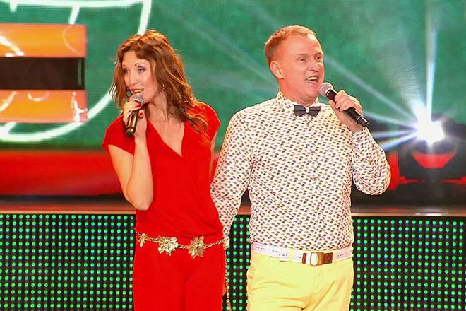 Наталья Сенчукова и Виктор Рыбин на сцене