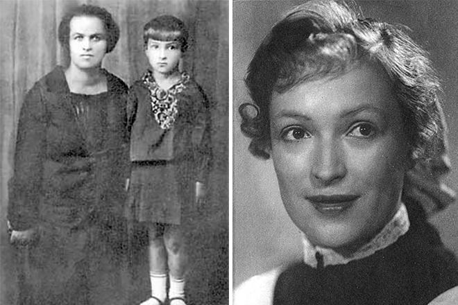 Клара Лучко в детстве и юности