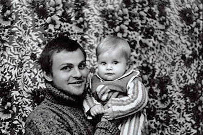Александр Соловьев с сыном