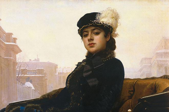Картина Ивана Крамского «Неизвестная». Предположительно - изображена Екатерина Долгорукова