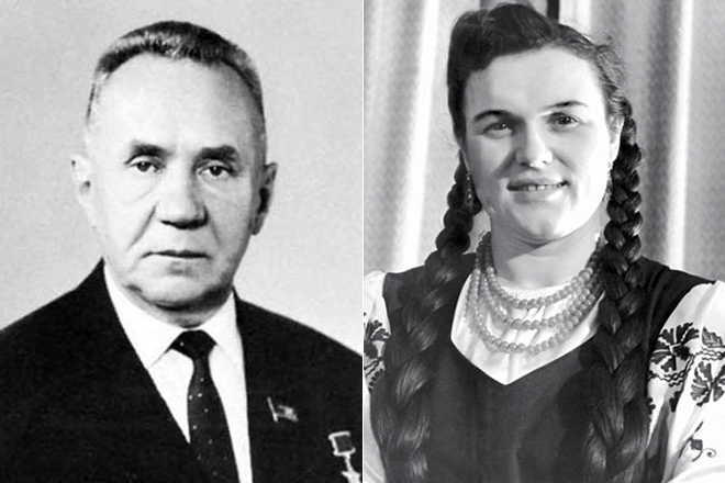 Алексей Косыгин и Людмила Зыкина