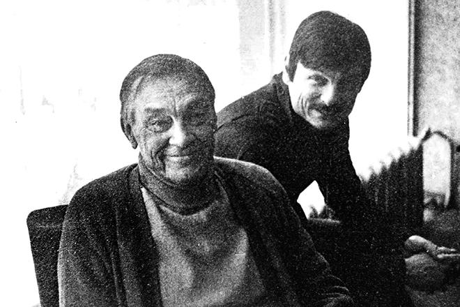 Арсений Тарковский и его сын Андрей Тарковский