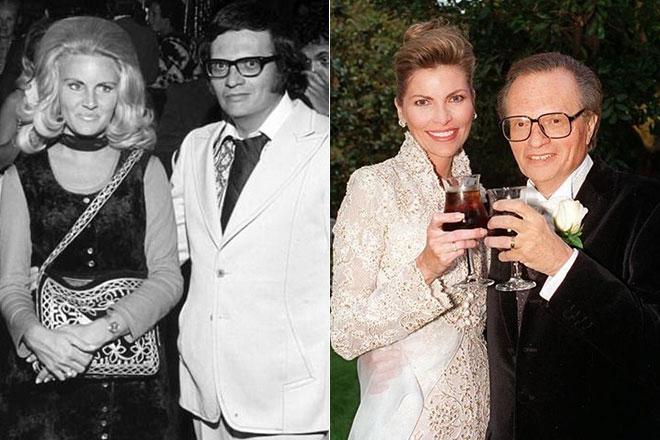 Ларри Кинг и его жена Алин Акинс