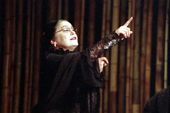 Валерия Заклунная на сцене театра