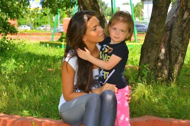 Катя Жужа с дочерью