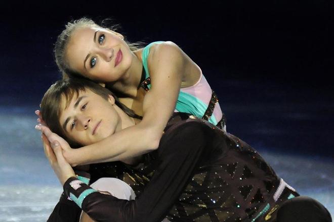 Руслан Жиганшин и Виктория Синицина на льду