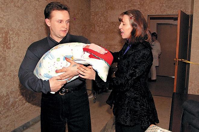 Наталья Сенчукова и Виктор Рыбин с сыном