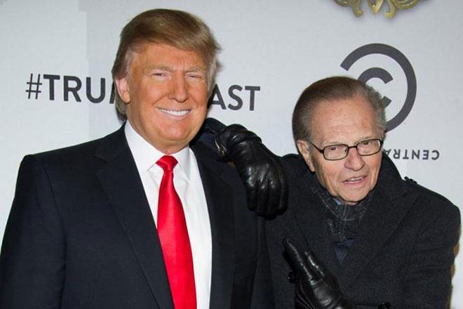 Дональд Трамп и Ларри Кинг