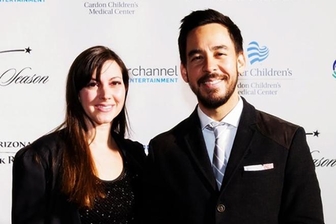Майк Шинода и его жена Анна