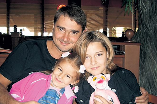 Александр Жигалкин с дочерьми