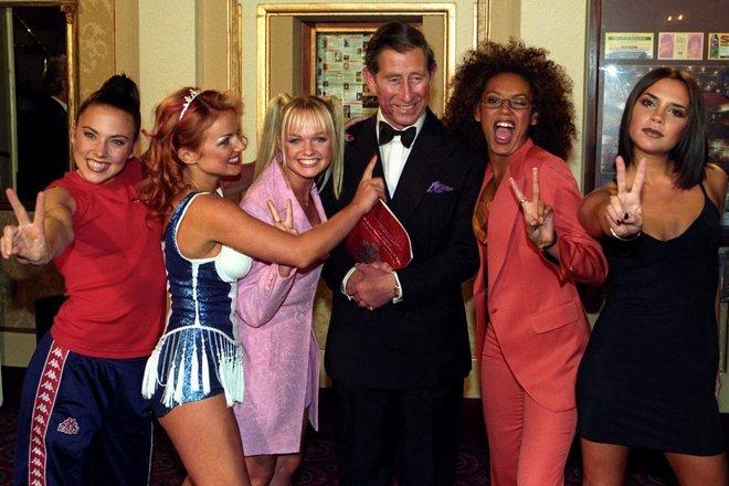 Группа Spice Girls и принц Чарльз