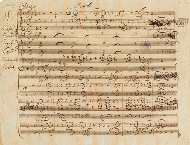 Нотный автограф Франца Шуберта