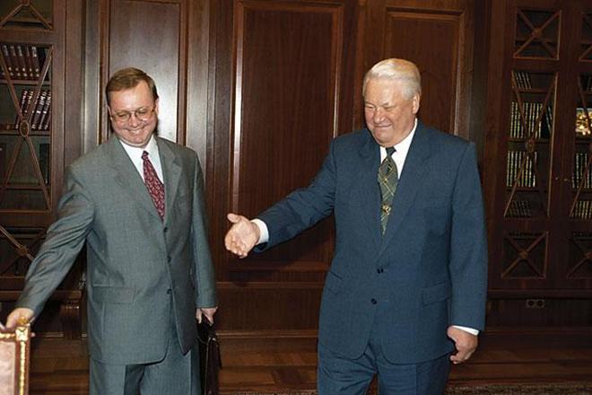 Сергей Степашин и Борис Ельцин