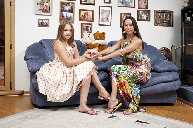 Марина Хлебникова с дочкой