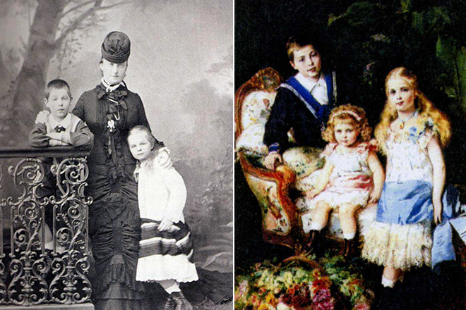 Екатерина Долгорукова с детьми