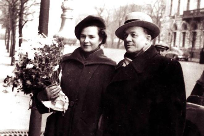 Сергей Лемешев с женой Верой Кудрявцевой