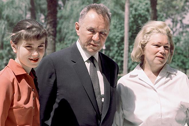 Алексей Косыгин с семьей
