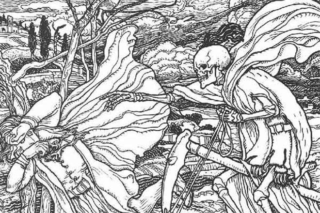 Иллюстрация к стихотворению Франсуа Вийона