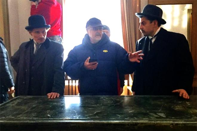 Георгий Фетисов в 2017 году на съемках сериала «Демон революции»