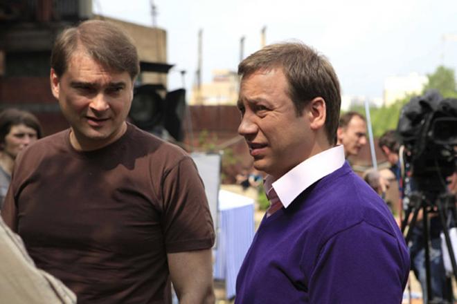 Александр Жигалкин на съемках сериала «Воронины»