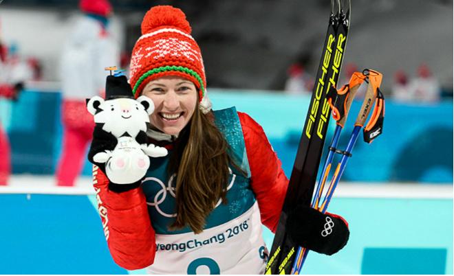 Дарья Домрачева на Олимпиаде в Пхенчхане в 2018 году
