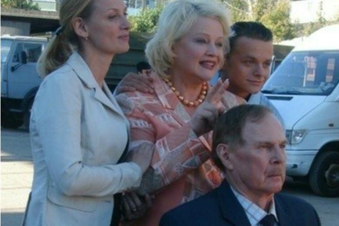 Наталья Егорова на съемках сериала
