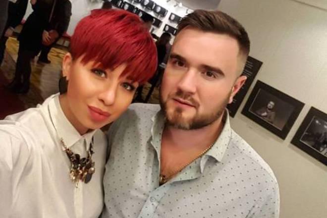 Юлия Плаксина с мужем
