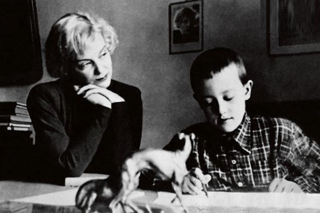 Марина Ладынина с сыном