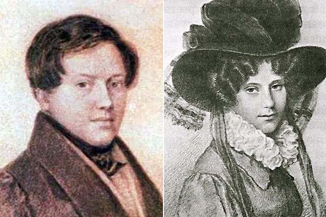 Евгений Баратынский и его жена Анастасия