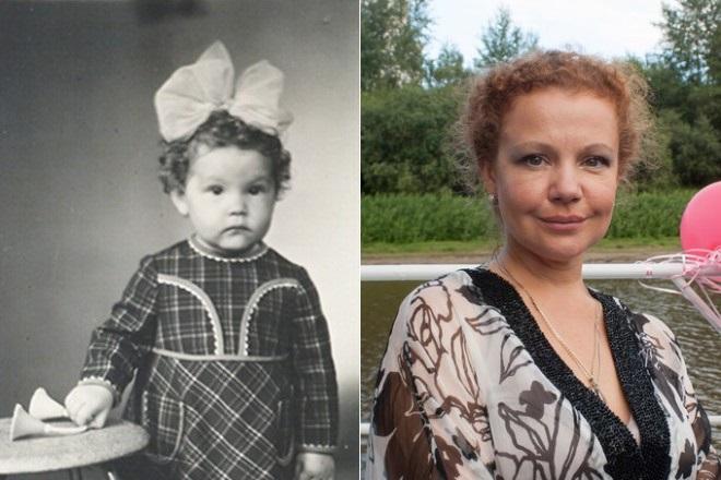 Татьяна Абрамова в детстве и сейчас