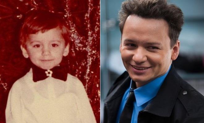 Александр Олешко в детстве и сейчас