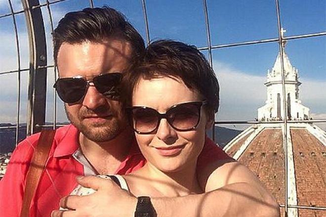 Екатерина Олькина с мужем