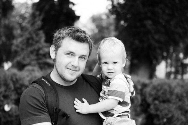 Дмитрий Карпачев с сыном