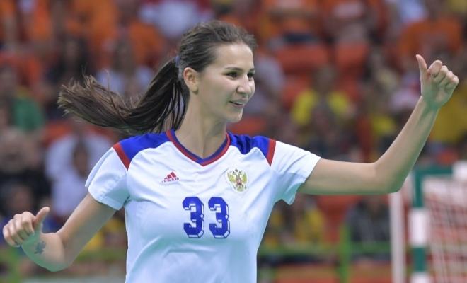 Екатерина Ильина в составе сборной России
