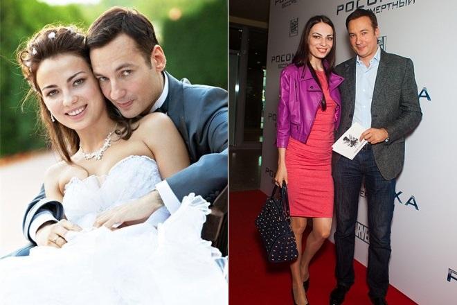 Павел Санаев с женой Аленой Фониной