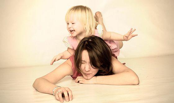 Айгель Гайсина с дочкой