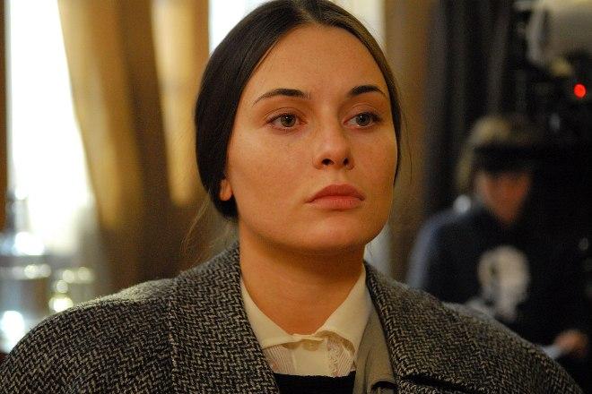 Екатерина Олькина на съемках сериала