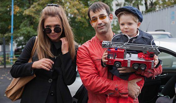 Ольга Дроздова с Дмитрием Певцовым и сыном Елисеем