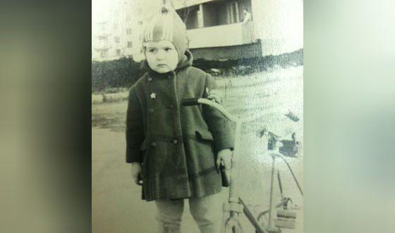 Ольга Голодец в детстве