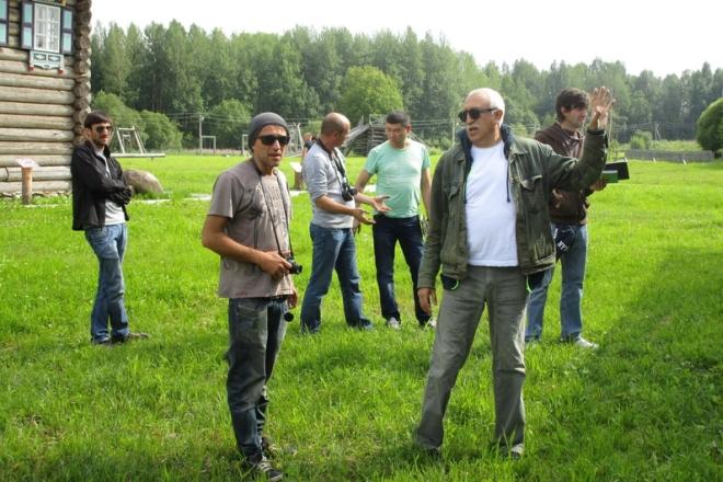 Николай Досталь на съемках фильма «Монах и бес»