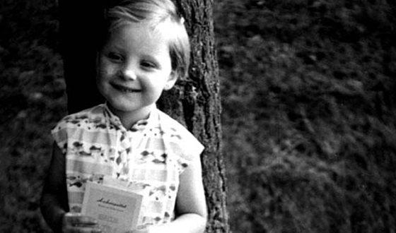 Ангела Меркель в детстве