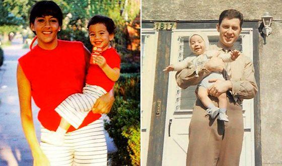 Джимми Киммел в детстве с родителями
