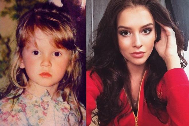 София Никитчук в детстве и сейчас