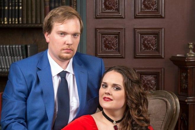 Юлия Печерская с мужем