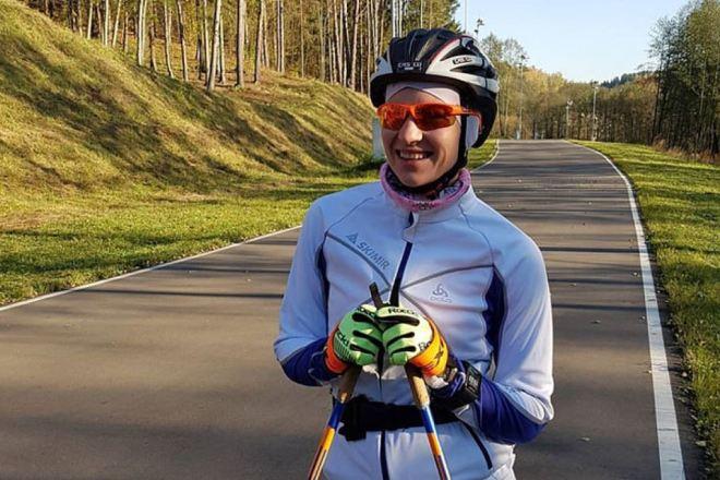 Дарья Домрачева на тренировке