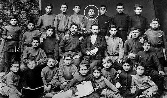 Сосо Джугашвили (Иосиф Сталин) в школьные годы