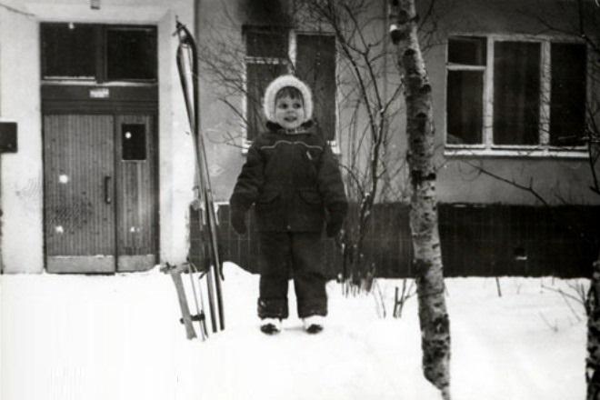 Ксения Новикова в детстве